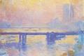 Картинка Клод Моне, картина, Мост Чаринг-Кросс, городской пейзаж