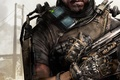 Картинка мост, оружие, дым, рука, солдат, губы, броня, борода, экзоскелет, бронежилет, Activision, Sledgehammer Games, Call of ...