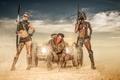 Картинка Desert Warriors, пустыня, воины, арт