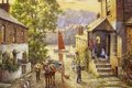 Картинка painting, картина, живопись, Donald Hamilton Fraser, boddinick across from fowey cornwall