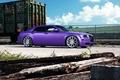 Картинка wheels, 300, tuning, Chrysler, purple, side, vossen