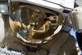 Картинка шлем, Космос, Российский космонавт, отражение, скафандр Орлан МК