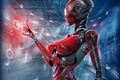 Картинка голограмма, cyberpunk, Гиноид, Gynoid, девушка, Android, Андроид, киберпанк, Робот