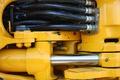 Картинка machine, hydraulic, metal, yellow, cables