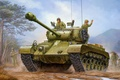 Картинка war, art, painting, tank, M26 Pershing, heavytank