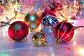 Картинка новый год, праздник, мишура, шары, игрушки, блеск, new year