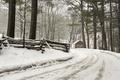 Картинка дорога, дом, лес, зима