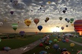 Картинка воздушный шар, цвета, небо, полет