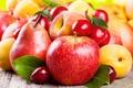 Картинка черешня, яблоки, фрукты, абрикос, груши