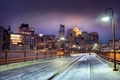 Картинка snow, снег, Миннесота, Skyline at Night, зима, Minnesota, Minneapolis, Миннеаполис, United States, ночь, winter