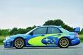Картинка Машина, Авто, wrx, Колеса, Вид сбоку, Синий, WRC, Rally, Оригинал, Subaru, Impreza