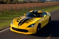 Картинка дорога, желтый, полосы, скорость, black, Dodge Viper, yellow, GTS, SRT