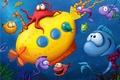 Картинка Морские обитатели, детское, рыбки, вода, чудики