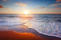 Картинка beach, песок, море, sky, облака, clouds, природа, пляж, sea, sand, Красивый закат сцены, beautiful sunset ...