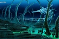 Картинка океан, водолаз, глубина, жнец, Subnautica