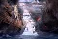 Картинка корабли, арт, драконы вечности, морское сражение, битва, море, абордаж, Dragon Eternity