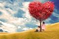 Картинка romantic, сердце, love, heart, любовь, tree