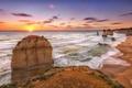 Картинка пляж, пейзаж, океан, берег, sunset, Melbourne, Australia, Victoria, 12Apostles