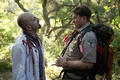 Картинка zombie, Leader scout Rogers, Scouts Guide To The Zombie Apocalypse, uniform, coat, insignia, rope, forest, ...
