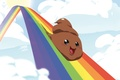 Картинка Какашка, радость, радуга