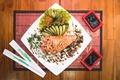 Картинка food, sushi, chopsticks, sake