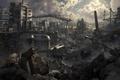 Картинка завод, трубы, разрушения, цистерны, Benjamin Ross