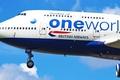 Картинка пассажирский, Боинг, one, british, Boeing, посадка, 400, airways, B-747, world, небо, самолёт, облака