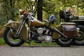 Картинка WLA, каска, Harley-Davidson, дорога, мотоцикл, военный