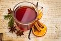 Картинка анис, чай, чашка, глинтвейн, напиток, бадьян, апельсин, пряности, корица, ваниль