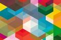 Картинка цвет, объем, угол, прямоугольник, ромб, линии