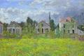 Картинка пейзаж, картина, Клод Моне, Дома в Аржантёе