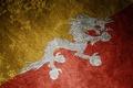 Картинка дракон, флаг, Бутан