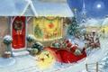 Картинка Зима, елка, снег, новый год, подарки, игрушки, дед мороз