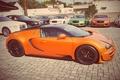 Картинка Bugatti, Grand, Veyron, Orange, Sport, Vitesse