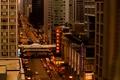 Картинка город, огни, улица, здания, небоскребы, вечер, Чикаго, Chicago, Иллиноис
