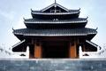 Картинка Дом, ступени, крыша, азия