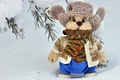 Картинка шарф, игрушка, снег, шапка, зима