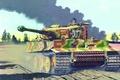 Картинка tank, ww2, painting, Panzerkampfwagen VI Tiger, war, art