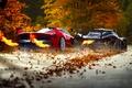 Картинка McLaren, Red, Fire, Black, Ferrari, Exhaust, Supercars, Foliage, FXX K