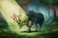 Картинка willpheonix, Elemental Rhino, арт