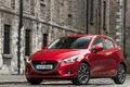 Картинка дорога, красная, фасад, мазда, Mazda2