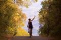 Картинка girl, pathway, bike