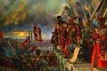 Картинка небо, горизонт, бойцы, Warhammer 40k, войско, генералы, знамёна