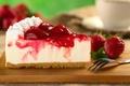 Картинка торт, десерт, чизкейк, сладкое, кусок, ягоды, пирожное, клубника