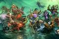 Картинка WoW, World of Warcraft, битва, герои
