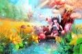Картинка Игра, девочка, существа, фантастика, волшебный мир