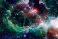 Картинка туманность Heart, star formation, космос, звезды, nebula Heart