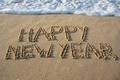 Картинка песок, море, пляж, beach, sea, sand, New Year, Happy, C Новым Годом