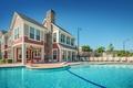 Картинка город, дом, бассейн