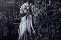 Картинка поза, стиль, модель, макияж, платье, наряд, азиатка